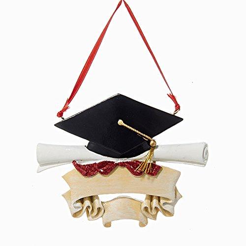 Kurt Adler Graduate Christmas - Ornament Cap Graduation