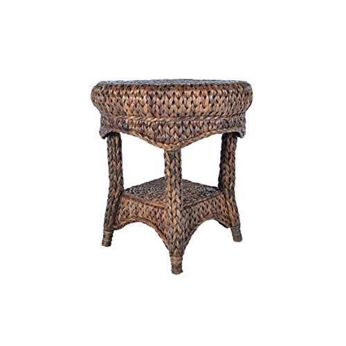Somette Handmade Boracay 22-inch Rattan Indoor/Outdoor End Table (Philippines) Brown (Furniture Philippines Outdoor Rattan)
