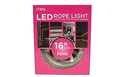 Meilo ML12-MRL16-PN 360 Degree LED Rope Light, Pink
