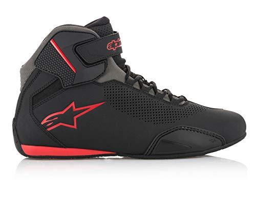 Zapatillas de moto Alpinestars Sektor Vented Street para hombre, negro / gris / rojo, 11.5
