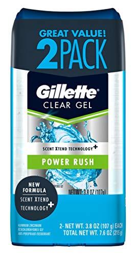 Gillette Clear Gel Antiperspirant/Deodorant, Power Rush 3.8 oz each 2 ea (Pack of 3)