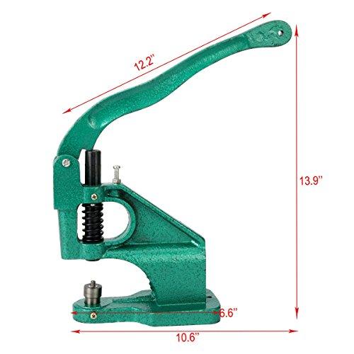 8milelake 3 Die Hand Press Grommet Machine #0#2#4 w/ 1500Pcs Grommets & Eyelet Feeding & Rolling Base by 8MILELAKE (Image #5)