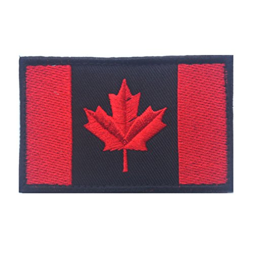 Canada Flag Patch Embroidered Military Tactical Flag Patch (Canada Flag Velcro)