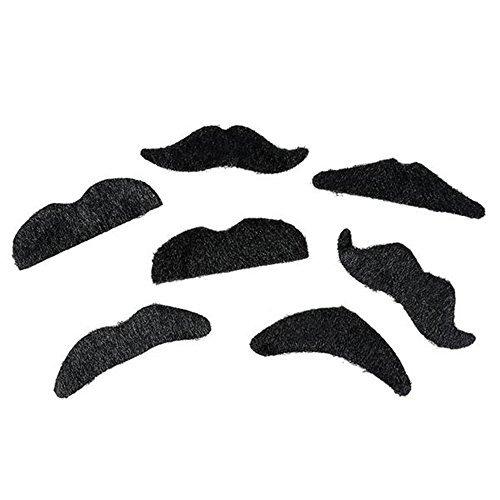 2 x Rhode Island Novelty Adhesive Mustache -