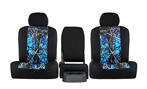 Rear SEAT: ShearComfort Custom Moon Shine Seat Covers for Ford Ranger (2019-2019) in Undertow Camo Sport for Solid Bench w/Pullout...