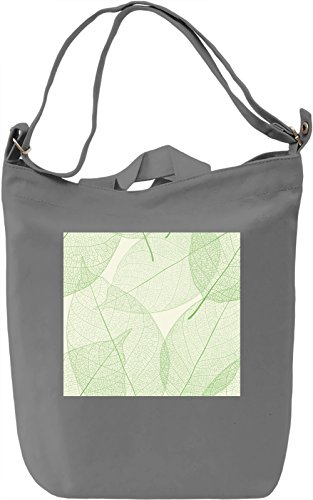 Green Leafs Pattern Borsa Giornaliera Canvas Canvas Day Bag| 100% Premium Cotton Canvas| DTG Printing|