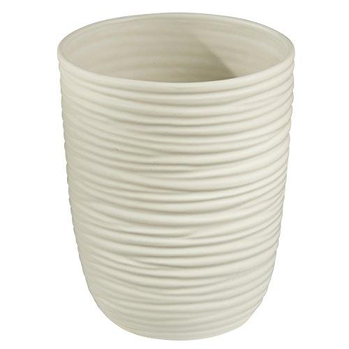 Chrome Natural Bed (mDesign Ceramic Wastebasket Trash Can for Bathroom, Office, Kitchen -)