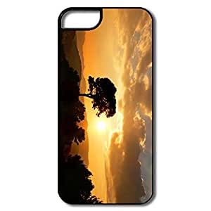 IPhone 5 5S Cover, Orange Sunset White/black Cover For IPhone 5 5S