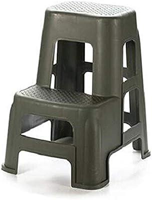 Escalera portátil Plástico 2 Escalera Plegable de Belleza de Coches Lavado de Coches Escalera del Taburete Fotografía de Escalera for Uso doméstico y de Oficina (Color : Verde): Amazon.es: Hogar