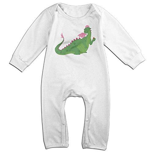 ALIPAPA Boy's & Girl's Cartoon Dragon Best Baby Climbing Clothes White Size 18 ()
