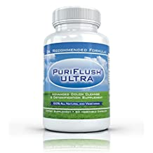 PURIFLUSH ULTRA - The All-Natural, Complete Colon Cleansing Supplement - Best Intestinal Cleanse / Body Detox Formula (60 Capsules)