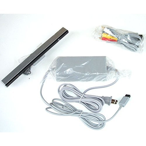 Video Game Accessories New Wii Complete Hookup Connection Kit Composite AV Cable, Power Cord Sensor - Out Multi Cable