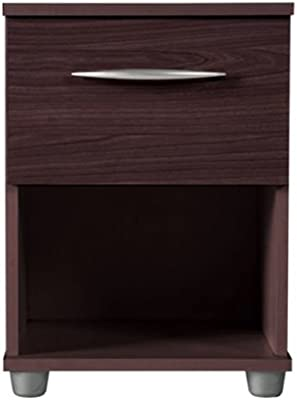 MODENA - mesa auxiliar con cajon - color wengue: Amazon.es: Hogar