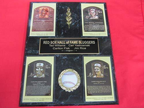 Ted Williams Carl Yastrzemski Jim Rice Carlton Fisk RED SOX Sluggers Hall of Fame Induction Postcard ()