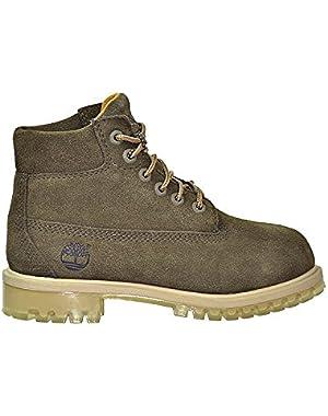 6 Inch Preschool TPU Outsole Waterproof Premium Boots Dark Green tb0a1aid