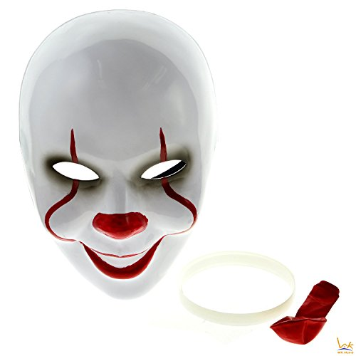 Halloween Pennywise Clown Mask, WK Home, IT 2017 New Style Mask with Balloon Costume Set, Cosplay Accessories (Pennywise Mask For Sale)