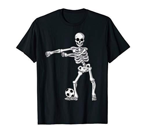 Flossing Skeleton Soccer Funny Halloween T-Shirt Floss Dance -