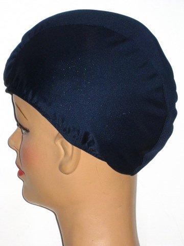 Extra Large Navy Blue Lycra Swim Cap (XL)