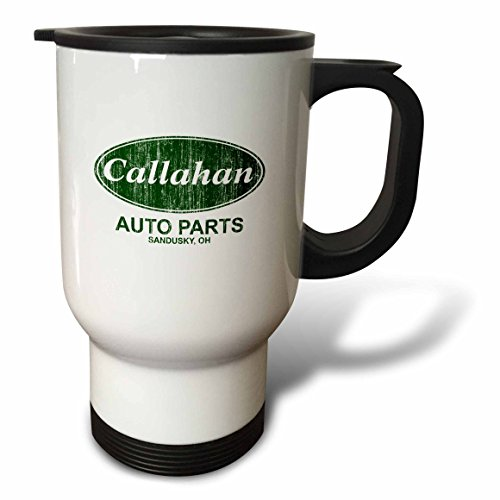 3dRose tm_17103_1 Callahan Auto Parts Travel Mug, 14-Ounce, Stainless Steel (Oz 14 Mug Auto)