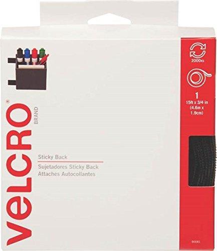 new-velcro-90081-3-4-x-15ft-hook-and-loop-roll-black-fastener-holder-6372866