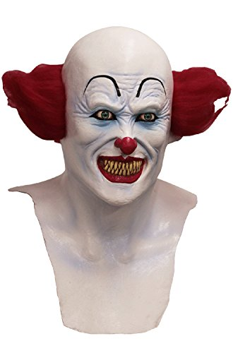 IT Scary Clown Mask White/Red -