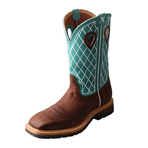 Twisted X Men'S Lite Cowboy Workboot, Color: Brown Distressed/Turquoise, Size: 1 by Twisted X (Image #5)