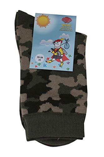 Weri Spezials Chaussettes pour Enfants, Couleur: Multicolore, Militaire 3