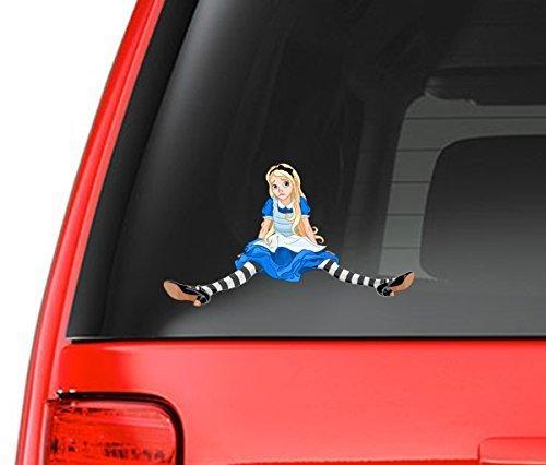 Alice In Wonderland Inspired Art Design Full Color 5 Vinyl Decal for Car Macbook or Other Laptop Milk Mug Designs mmd/_car/_alice