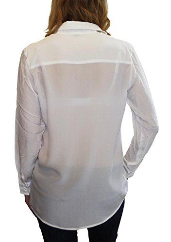 Gear 100 Camicina Bianco Blusa Posh Seta Donna 1POdxd