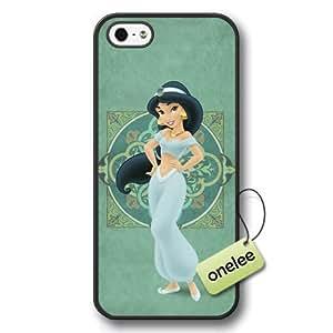 Disney Cartoon Movie Aladdin & Jasmine Hard Plastic Phone Case & Cover Case For HTC One M8 Cover - Black 1