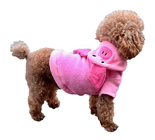 ARJOSA Puppy Dog Pet Hoodie Jumpsuit Pig Halloween Costume Clothes (Pig Costume For Dogs)