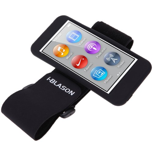 Screen Ipod Protector Nano Armband (i-Blason Sport Armband and Flexible Case Combo for iPod nano 7th generation + Screen Protector and Wire organizer (2012 September version iPod Nano 7G) Black)