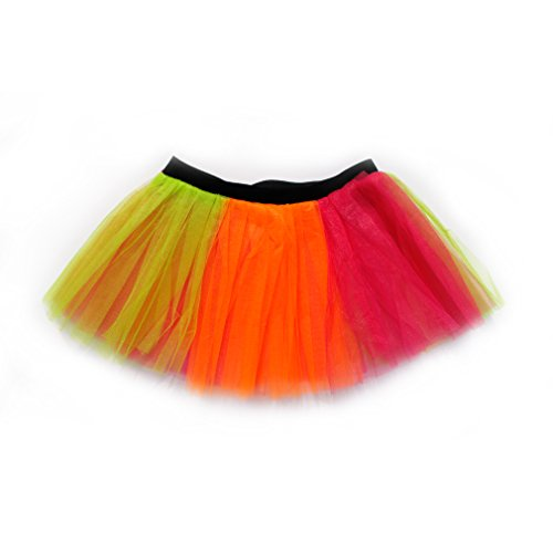 [Dreamdanceworks Running Skirt Teen or Adult Size Princess Costume Ballet Rave Dance or Race Tutu (Neon] (Dance Costumes For Adults)