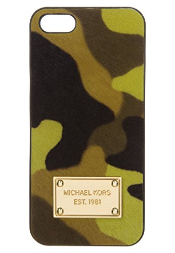 Michael Kors Electronics Acid Lemon Camouflage Haircalf Phone Case For IPhone - Celine Michael Kors