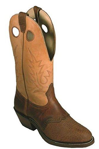 Bottes américaines - Bottes Buckaroo - BO-5264-E (pied normal) - Homme - Cuir - marron/bleu électrique