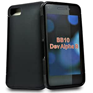 Accessory Master - Carcasa para BlackBerry 10 (silicona), color negro