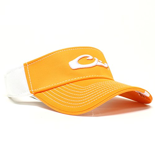 Game Day Visor (Drake Waterfowl Game Day Fitted Visor Tennessee Orange and White M/L)