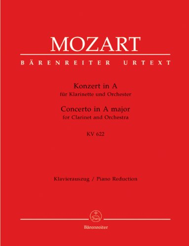 Mozart: Clarinet Concerto in A Major, K. 622 (Sheet Music Clarinet)