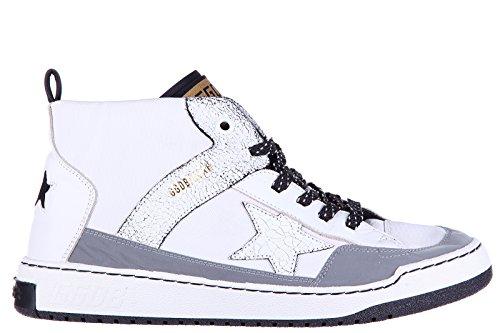 Golden Goose zapatos zapatillas de deporte largas hombres en piel nuevo noah blanco