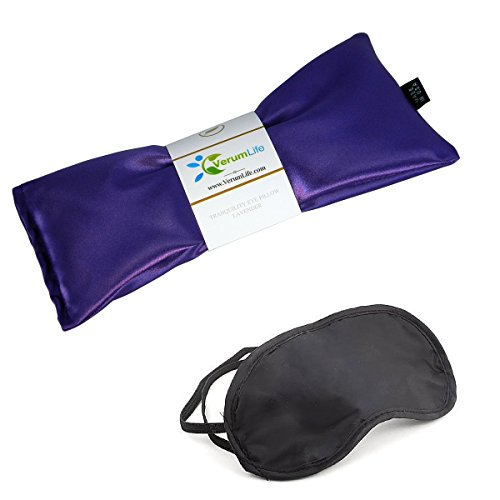Eye Mask For Puffy Eyes, Dark Circles, Sleeping and Stress Relief - Hot Cold Therapy Eye Pillow Also Used For Headaches, Migraines & Sinus Pain. (1 Eye Pillow, Calm Purple) (Headache Cream compare prices)