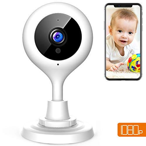 Baby Security Monitor - APEMAN Baby Monitor WiFi Camera 1080P FHD Home Security Camera with Night Vision/Sound&Motion Detection/2-Way Audio for Baby/Elder/Pet Compatible with iOS&Android