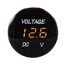 XCSOURCE Universal Digital Display Voltmeter Waterproof Voltage Meter Orange LED for DC 12V-24V Car Motorcycle Auto Truck MA1060