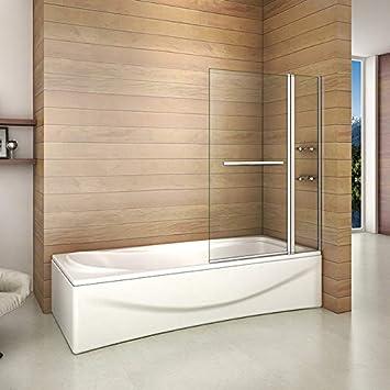 Bañera 2 piezas Mampara pantalla de ducha plegable vuelta 180 ° 100x140cm: Amazon.es: Bricolaje y herramientas