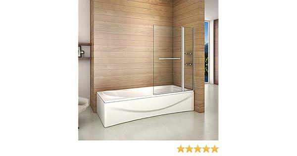 Bañera 2 piezas Mampara pantalla de ducha plegable vuelta 180 ...