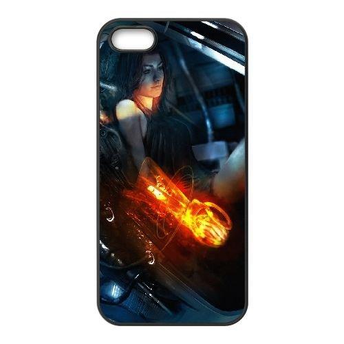 T6I71 effet de masse D2G0RH coque iPhone 5 5s cellulaire cas de téléphone couvercle coque noire WS1KFH6LC