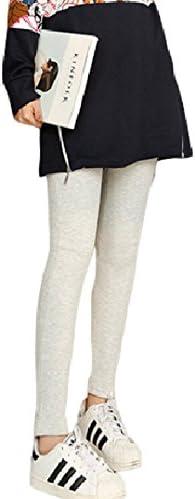 Spinas(スピナス) マタニティ 冬 レギンス パンツ 裏起毛 あったか 全5色 ブラック ライトグレー ネイビー ワインレッド ダークグレー (XXXL, ライトグレー)