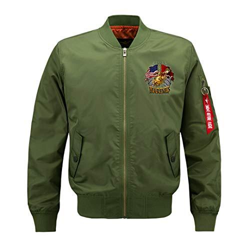 Men Pilot Jacket Air Force One MA1 Mens Bomber Jackets Baseball Uniform Parka Coat Streetwear Big Size Army Green ()