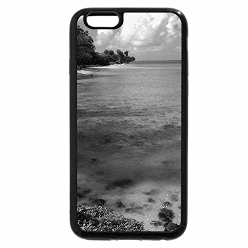 iPhone 6S Case, iPhone 6 Case (Black & White) - Beach