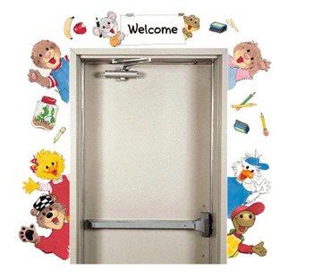 Eureka Suzy's Zoo Welcome Go-Arounds (School Door Decorations)