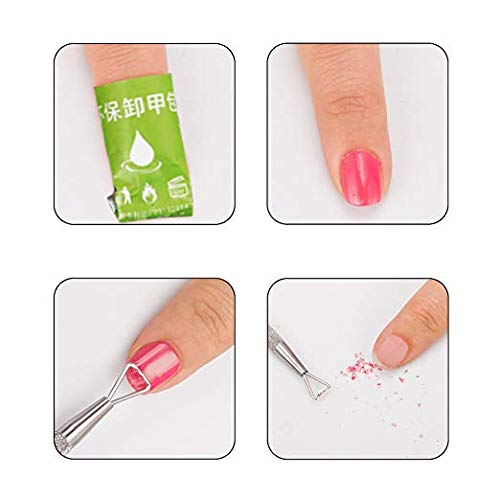 Cuticle Remover Kit Gel Nail Art Pusher Tool Stainless Steel Triangle Polish Cleaner Scraper